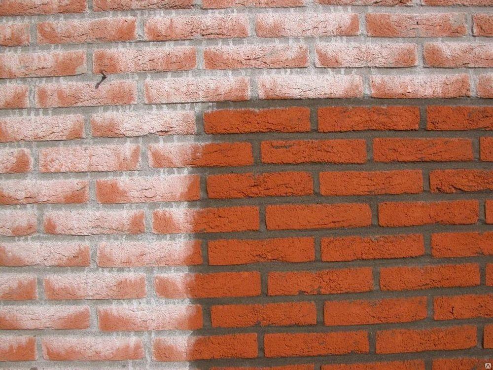 Уход за обработанной поверхностью кирпичной стены